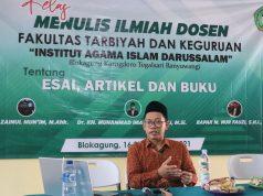 Tiga Dosen FTK IAIDA Blokagung Sharing Trik dan Motivasi Menembus Penerbit dan Jurnal Berreputasi Nasional